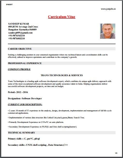 Resume Model Online Resume Format Online Resume Maker Resume Format